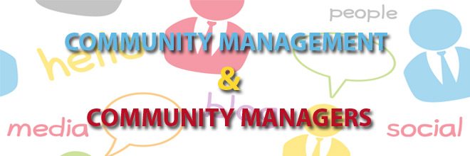 Managing online communities as community managers